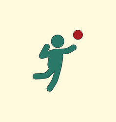 Icon of volleyball on color background eps-10 vector