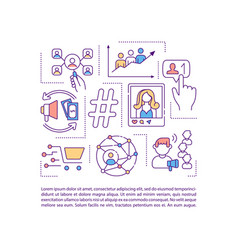 Influencer marketing concept icon with text vector