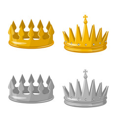 Isolated object medieval and nobility sign set vector