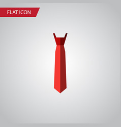 isolated tie flat icon style element can vector image