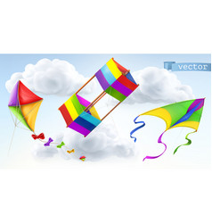 kite 3d icon set vector image