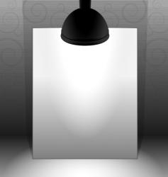 Lamp lit paper vector