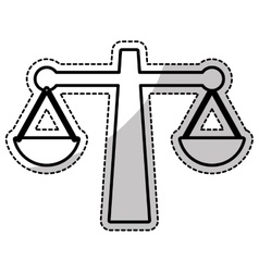 Law scale icon vector