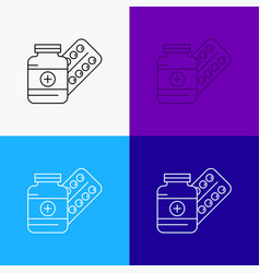 medicine pill capsule drugs tablet icon over vector image