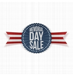 Memorial Day Sale greeting Banner with Text vector image