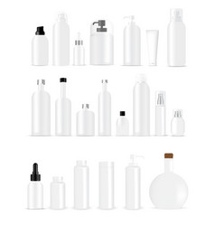 mock up realistic white bottles healthy and vector image