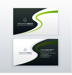 modern business card design with wavy effect vector image