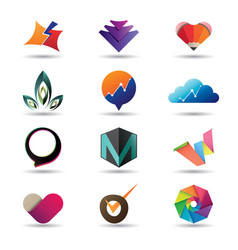 modern business icon collection vector image