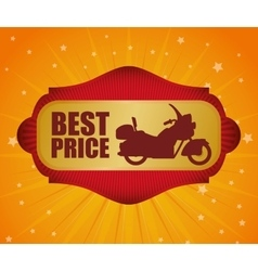 Motorcycle offer vector