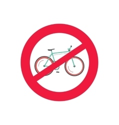 No bicycle road sign restriction of bike vector image