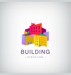 origami building structure city scape vector image