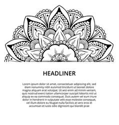 Ornamental mandala printable round pattern vector