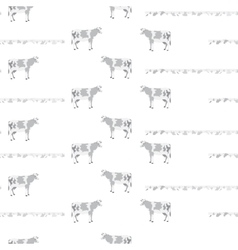 pattern with cows vector image