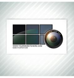 Photographer business card template vector