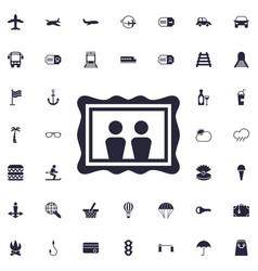 Picture icon vector