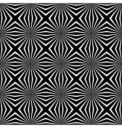 Psychedelic black and white abstract background vector image
