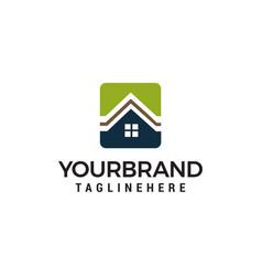 real estate logo template design vector image