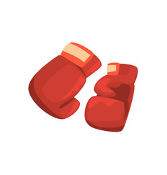 red boxing gloves sports equipment colorful vector image