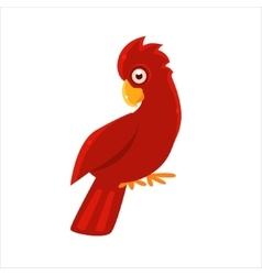 Red cockatoo parrot vector