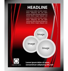 Red Flyer template vector image