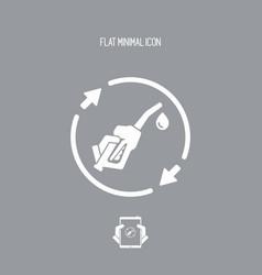 renewable fuel flat icon vector image