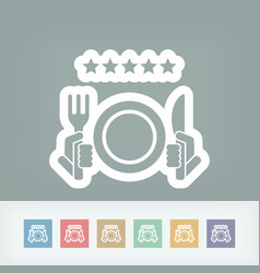 Restaurant icon top rating vector