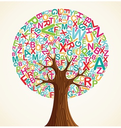 School education concept tree vector image vector image