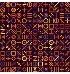 Seamless multicolor geometric line random vector