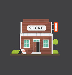 shop store building market vector image