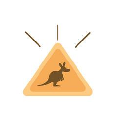 Sign board traffic kangaroo australia icon vector
