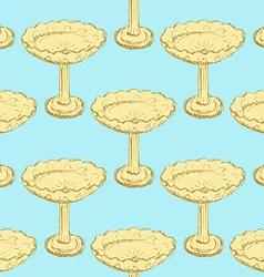 Sketch cookies vase in vintage style vector image