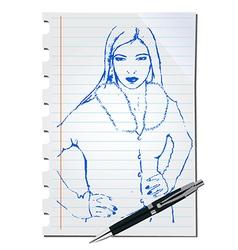 Sketch of a woman vector image