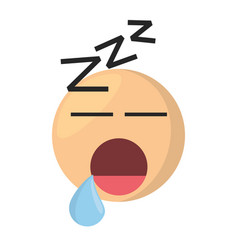 sleeping emoticon cartoon icon vector image