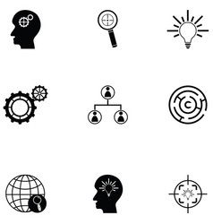 solution icon set vector image