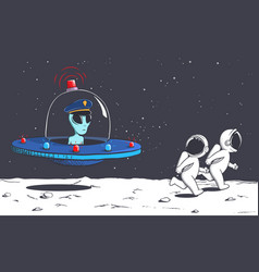 space police alien vector image