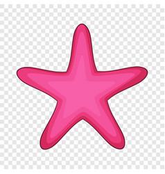 Starfish icon cartoon style vector