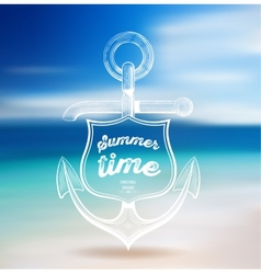 Summer Design Blur Beach Background vector image
