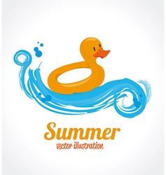 Summer design over gray background vector