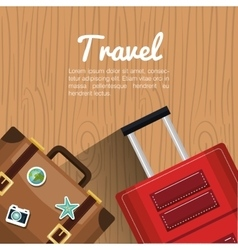 Travel two suitcase vacation design vector
