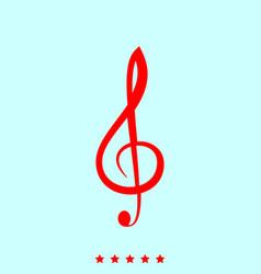 treble clef set it is color icon vector image