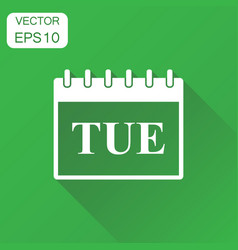 tuesday calendar page icon business concept vector image