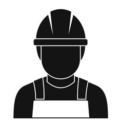 Welding man icon simple style vector