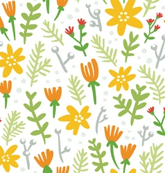 White background seamless pattern with colorful vector image vector image