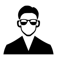 Young Hipster Fashion Man Hair and Glasses vector image