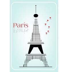 Black Eiffel tower vector image