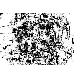 black ink splatter background isolated vector image