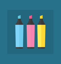 colored engineering office marker vector image