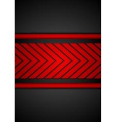 Contrast red black arrows design vector image vector image