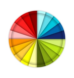 Palette of color wheel for your design vector