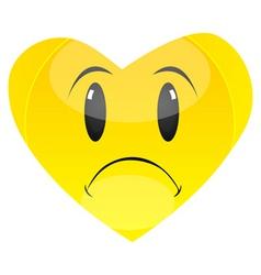 sad heart vector image vector image